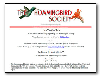 Hummingbird Society